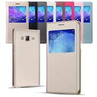 Housse Flip Samsung Galaxy J1 2016 Coque Protection Etui Anti Choc Fenêtre Linci
