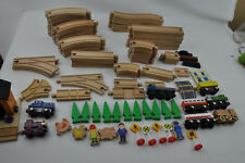 100 PC THOMAS THE TANK ENGINE WOOD WOODEN TRAIN TRACK SET + TRAINS + ACCESSORIES