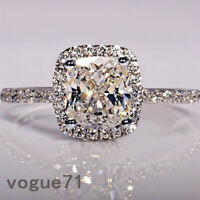 Fashion Jewelry Cut White Sapphire Ring Wedding Bridal Gifts Charm Knuckle Ring
