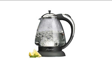 Capresso 259.03 H2O Plus 6-Cup Safety Glass Water Kettle (Polished Chrome)