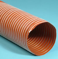 4M Orange Silicone Ducting / V9 High Temperature Flexible Air Feed -80 to +310°C