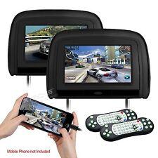"""COPPIA MONITOR POGGIATESTA 9"""" TOUCH 1080p USB,SD,HDMI GIOCHI DVD RADIO FM nero"""