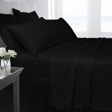 Linge de lit et ensembles noirs contemporains en 100% coton