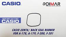 CASIO JUNTA/ BACK SEAL RUBBER, PARA MODELOS. A-178, A-179, F-200, F-201