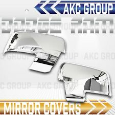 Cobra Tek For 2009-2012 Dodge Ram 1500 2500 3500 Chrome Mirror Cover Trim Cap
