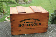 RUSTIC ANTIQUED VINTAGE WOODEN CHAMPAGNE BOLLINGER BOXES CRATES TRUGS HANDMADE