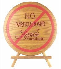Legends Furniture Round Solid Wood Tripod Sign No Particleboard Particle Board