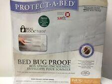 "NEW, BED BUG PROOF- BOX SPRING ENCASEMENT- FULL XL / DOUBLE XL-( 53"" x 80"" x 9"")"