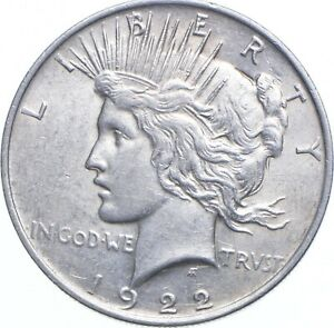Early - 1922 Peace Silver Dollar - 90% US Coin *661