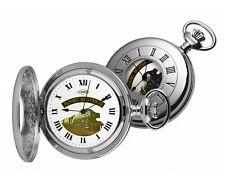 Woodford Chrome Plated FLYING SCOTSMAN Half Hunter Pocket Watch.