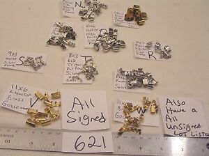 Vtg Fold Over Clasp Lot All Signed Jewelry Findings Craft Repair Bracelet + Lot