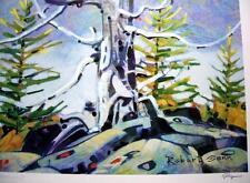 Monument, Robert Genn Original Lithograph, Canadian Landscape, L/E Signed, COA