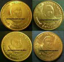 India Indien Charity Social Worker Mother Teresa Full 4 Coin Set 5 RS UNC NEW