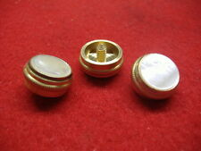 New Baritone/Euphonium Brass Finger Buttons w/Felts, For King & Olds, Set of 3!