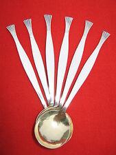 Russian Vintage Alpaka Metall Silver-Plated Tee Spoons Set (6 pcs.)