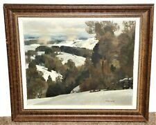 Andre Auguste Charigny Winter Landscape