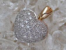 ♥ Lovely ღ Christ  ☆0,50 ct.☆ Brillant Herz Anhänger in aus 585 Gold mit Diamant