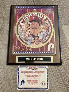 1994 Mike Schmidt MLB Superstar Collector Plaque COA Sports Impressions #0792