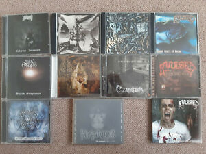90 Underground Metal CDs (Black, Death, Thrash, Heavy, Gothic, Industrial)