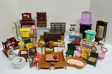 Vintage Dollhouse Furniture and Accessories Huge Lot 50 Pieces