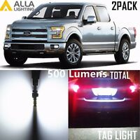 Alla Lighting 2x License Plate Tag Light LED Bulbs Lamp for F150 F250 F350 White