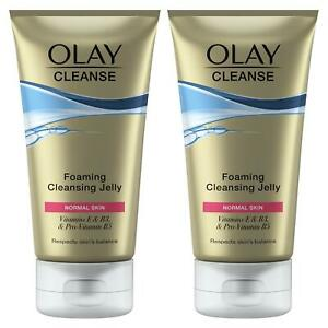 2 x Olay Cleanse Foaming Skin Cleansing Jelly Melts Away Make-Up for Normal Skin