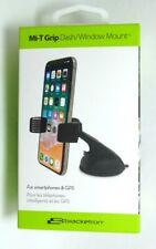 Bracketron - Mi-T Grip Holder Car Dash/Windshield Mount for Phones - Gray/Black