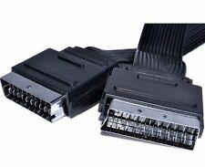 10m, HQ SPINA SCART a SCART cavo, a basso profilo TV LCD DVD Piatto Cavo a nastro