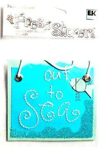 FISHERMAN DREAMS - Rebecca Sower Fresh Stickers Scrapbooking Cardmaking Crafts