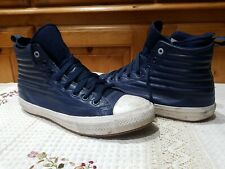 CONVERSE ALL STAR NAVY LEATHER SIZE 10.5