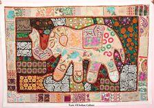 Nuevo Elefante Indio para Pared de Retales Bordados Manta Tapiz Grande 163cm