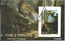 Sao Tome e Principe block212 (complete issue) used 1989 Locomot