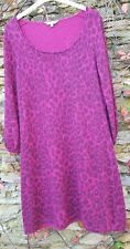 EAST pink knitted leopard print  jumper dress with cashmere and angora  14