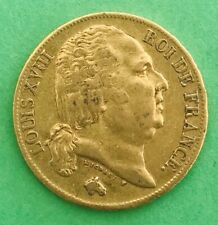 Monnaie 20 Francs Or Louis XVIII 1817 A (Paris) TTB+