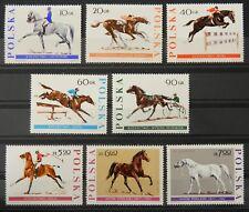 - Polen Poland 1967 Mi. Nr. 1740-1747 ** postfrisch MNH Pferde horses
