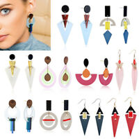 Fashion Women Geometric Acrylic Resin Drop Dangle Long Earring Statement Jewelry