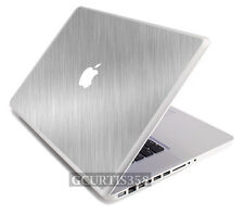 "BRUSHED ALUMINUM Vinyl Lid Skin Decal fits Apple Original Macbook 13"" Laptop"