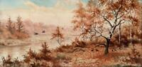 JOSEPH HALFORD ROSS (1866-1909) Watercolour Painting PHEASANTS RABBITS LANDSCAPE