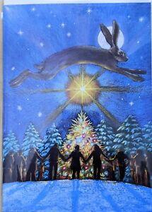 Yule Christmas alternative greetings card hare pagan wicca wife daughter mum