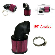 Black 90° Angled Motorcycle Air Cleaner Intake Filter For Bobber Chopper Cruiser