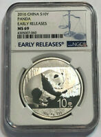 2016 China Silver Panda (30 gms) S10Y Coin, NGC MS 69, Early Releases