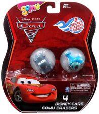 Disney Cars Cars 2 Gomu Finn McMissile & Guido Gomu Erasers 4-Pack