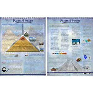 Pyramid Power Informational Laminated Chart!