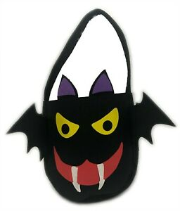 Halloween Evil Bat Face Trick or Treat Candy Sweets Bag