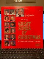 Great Songs Of Christmas - vintage OG vinyl LP- The Carpenters - Bing Crosby
