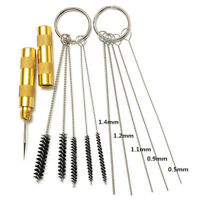 11x Airbrush Spray Cleaning Repair Tool Kit Stainless steel Needle Brush Set OI
