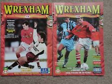 Football programmes x 2 WREXHAM SCUNTHORPE FA CUP 96 NOTTS COUNTY 1997 job lot