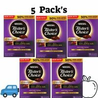 5 Pack's Nescafé Taster's Choice Instant Coffee 100% Colombian 16 Single Serve