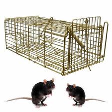 Large Heavy Duty metal Pest Control Trap Rat Mouse Catcher Easy Bait Humane Cage