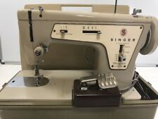 Vintage Singer Fashion Mate Sewing Machine Model 237 w/ Case Made In France